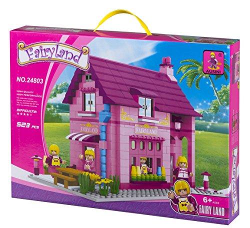 Ausini - Juego de construcción Casa & jardín - 523 piezas (ColorBaby 42842)