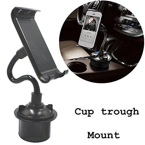 Kits Handy-kfz (coscod Tablet Cup Mount Halterung Auto Wiege Kit, 360º drehbar Bendable Handy/iPad Verstellbare Swing längerem Getränkehalter für Auto oder LKW oder Boot)