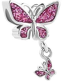 Korliya Abalorio para pulsera, diseño de mariposas