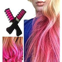 hengsong jetable couleur cheveux dye temporaire cheveux teinture outil poudre craie peigne pour fans de cosplay - Coloration Cheveux Craie