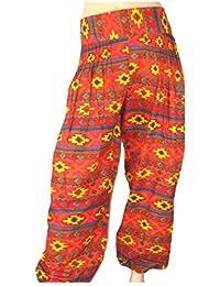 Lovarzi - Alí babá pantalón harem pantalón pijama - huelga a algodón pijama pantalón mono genie azteca de mujeres