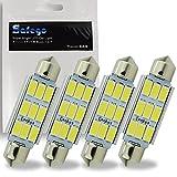 Safego 4 x C5W 42 MM LED 5730 9SMD Voiture Ampoule toit 211-2 578 212-2 ODB Plafonnie la lumière de plaque d'immatriculation DC 12V Blanc Pur 6000K LED Dome Festoon