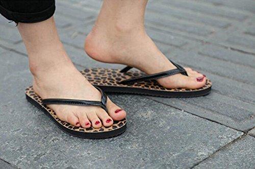 Sentao Donna Casuale Infradito Scarpe da Spiaggia Estate Sandali Leopardo