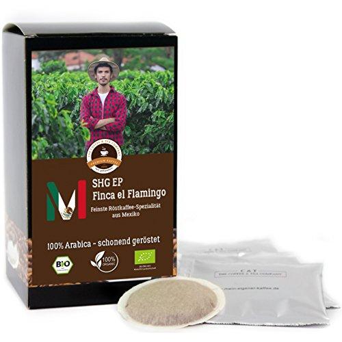 Kaffee Globetrotter - Mexico Finca El Flamingo - Bio - 15 Premium Kaffeepads - für Senseo...