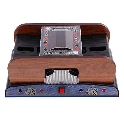 Sharplace Profi Kartenmischer, 2 Decks Automatische Pokerkarten Mischmaschine