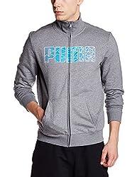 Puma Mens Round Neck Cotton Sweatshirt (4055263496813_83731303_Small_Medium Gray Heather)