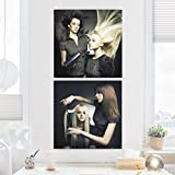 Bilderwelten Impression sur toile 2 Parties - In The Beauty Salon - Carré 1:1 canvas pictures canvas wall art canvas print XXL canvas prints, Dimension: 2x 40x40cm...