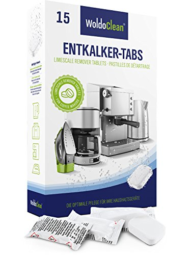 Entkalker 15x Entkalkungstabletten für Kaffeevollautomat & Kaffeemaschine - Kompatibel mit Jura,...