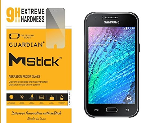 mStick Guardian + 0.2mm Anti Explosion Tempered Glass , 9H Hardness Ultra Clear, Anti-Scratch For Samsung Galaxy J1 2015  available at amazon for Rs.76