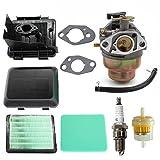 AISEN Vergaser mit Luftfilter Luftfilterdeckel Luftfiltergehäuse Kit für Honda GC135 GCV135 GC160 GCV160 GCV190 Rasenmäher Ersetzt 17231-ZM0-040 17231-ZM0-000