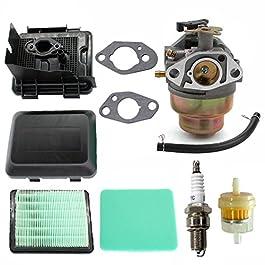 AISEN Carburateur et Filtre à Air Couvrir Base pour GC135 GCV135 GC160 GCV135 GCV160 GCV190 Tondeuse à gazon Remplace…