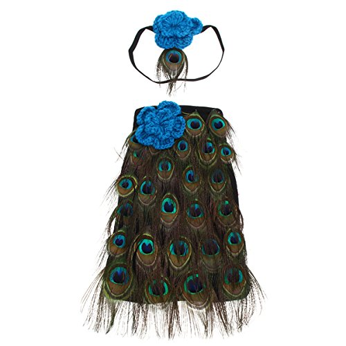 Taoytou Baby Mädchen Jungen Crochet Knit Kostüm Foto Fotografie Prop Outfits (Peacock Baby Kostüm)