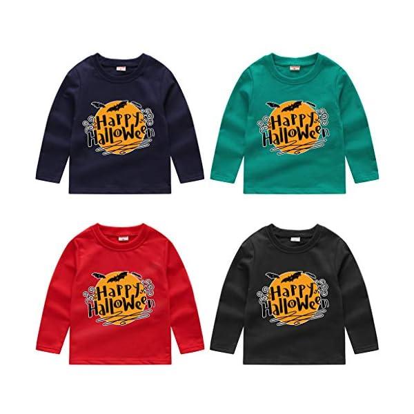 HAOHEYOU T Shirt Tops NiñIto Bebé NiñOs Muchachos Chicas VíSpera De Todos Los Santos ImpresióN Camisa De Entrenamiento… 1