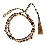 assorti Marron Tassel Bois de santal Perles de prière 8Mm-bead Tasbih Bois de santal Chapelet