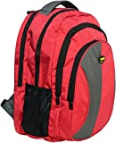 New-Era Polyester 40 Ltr Red-Grey School Backpack