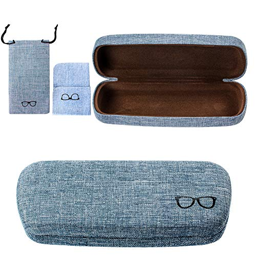 Custodia rigida per occhiali da vista, custodia in tessuto di lino per occhiali da vista e da sole