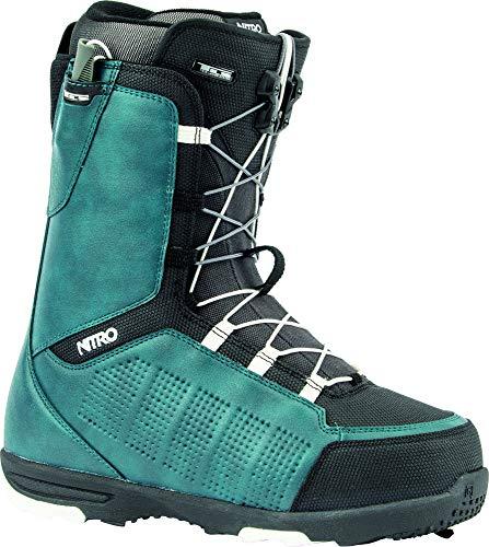 Nitro snowboards - scarponi da snowboard da uomo thunder tls '20 all mountain freeride freestyle, con allacciatura rapida, colore: blu navy, nero, 26.0