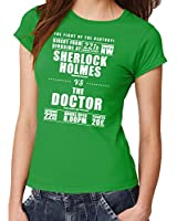 -- Sherlock vs. The Doctor -- Girls T-Shirt