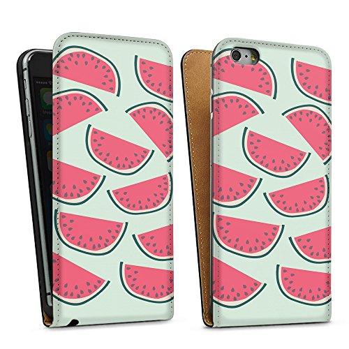 """artboxONE Handyhülle Apple iPhone SE, Weiß Sideflip-Case Handyhülle """"Über Melonen Case"""" - Rock the kitchen - Smartphone Sideflip Case mit Kunstdruck von Michaela Merzenich Downflip Case schwarz"""