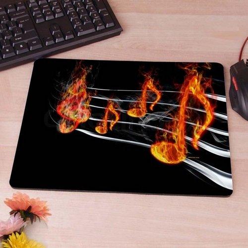 Preisvergleich Produktbild Feurige Musiknoten Musik Note Mauspad Anti-Rutsch, Wasserfest 220x180 Veredeln Sie Ihren Schreibtisch mit diesem eleganten Mauspad