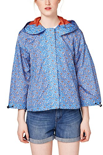 edc by ESPRIT Damen Jacke 068CC1G001, Blau (Blue 430), X-Small