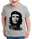 Che Guevara Kinder T-Shirt Kuba Revolution guevara, Farbe:Dunkelgrau Meliert;Kinder T-Shirt Größe:110/116