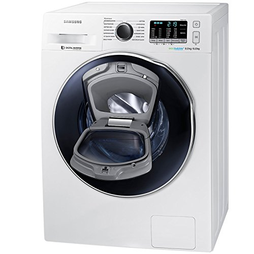 Samsung WD80K5410OW 8kg Wash 6kg Dry EcoBubblle/ AddWash 1400rpm Freestanding Washer Dryer – White