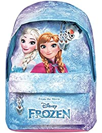Preisvergleich für Kinder Rucksack Frozen für Mädchen Die Eiskönigin Völlig unverfroren - Schulranzen mit Anna und Elsa - Schulrucksack...