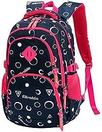 Mochila Infantil, Moda Impresa Bolsa De Niña Impermeable Y Transpirable Mochila De Nylon Para Viajes