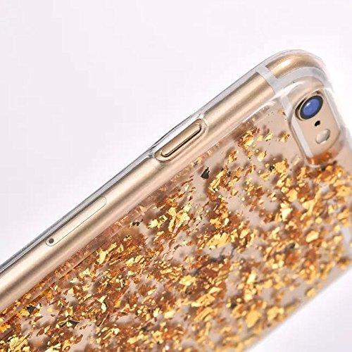 Custodia iPhone 6S, Custodia iPhone 6, Case Cover per iPhone 6S / 6, ikasus® Shiny Sparkly Bling Bling Glitter lucido lusso scintilla di cristallo bling [lamina doro] iPhone 6S / 6 Custodia Cover [Cr Doro lamina doro