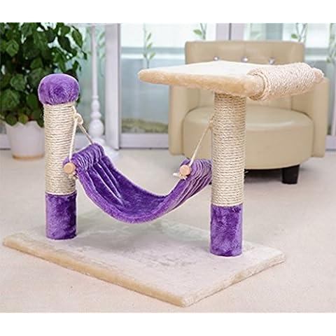Gato del animal doméstico Junta de Scratch Plataforma Escalada de una silla de la cuerda del gato del gato Columna Agarrando del árbol del gato de muebles Juguetes para gatos