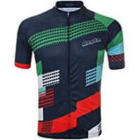 Bazaar Unisex estate ciclismo manica corta materiale poliestere bicicletta Jersey migrazione sulla traspirante rapida asciugatura