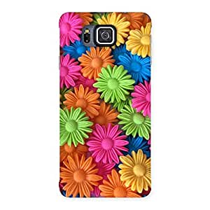 Cute Art Sunflower Print Back Case Cover for Galaxy Alpha