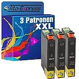 PlatinumSerie® 3x Druckerpatrone XL mit Chip kompatibel zu Epson TE1281 Black Epson Stylus SX 235 SX 235 W SX 420 W