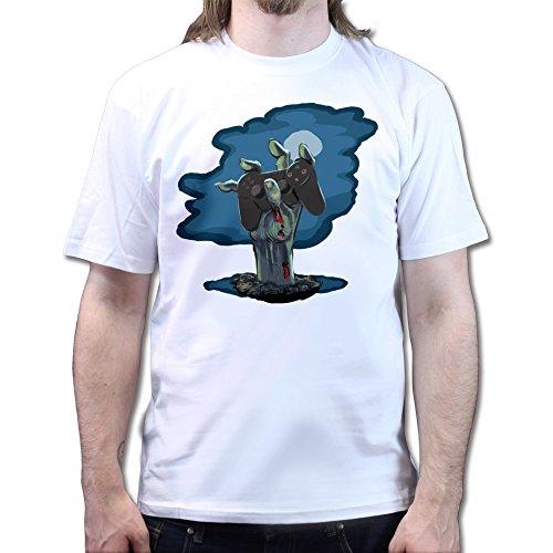 Zombie PS3 Gamer Black Ops Walking Zombie T-shirt Weiß