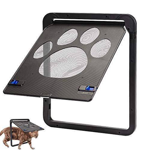 FREESOO Katzenklappe magnetisch für Tiere, automatisches Verriegeln, Tür für Katzen, Welpen, kleine Hunde und andere kleine Tiere, 24 x 29 cm