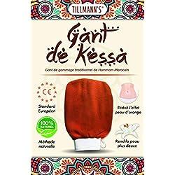 Tillmann's Gant de Crin Gommage Kessa Marocain-Exfoliant corps Femme-Essence of Morocco-Nettoyage des Cellules Mortes de la Peau-Gants de toilette-Spa-Hammam-Massage -SOLDES