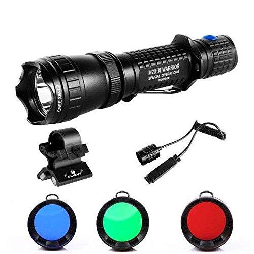 olight-m20warrior-sx-l2javelot-caccia-set-con-3filtri-colore-verde-rosso-blu-interruttore-cavo-e-uni