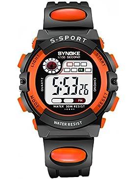 Children 's watch wasserdicht luminous multi - functional sports electronic-B