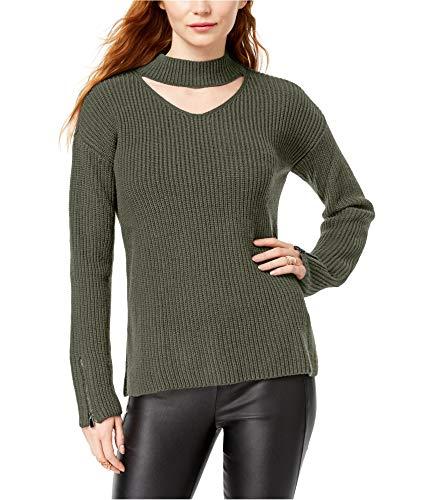 Bar III Damen Pullover aus Wollmischgewebe, Lange Ärmel - grün - Klein