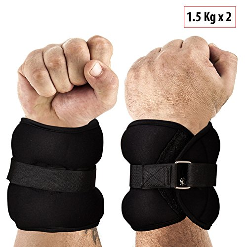 FITSY® Adjustable Wrist and Ankle Weights, 2 x 1.5 Kg