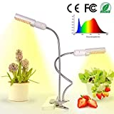 Relassy 45W LED Pflanzenlampe Vollesspektrum 88 Leds Pflanzenlicht mit Dualem