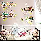 Malilove Schöne Bezeichnung Auf Ast Wand Aufkleber Kinderzimmer Dekoration Cartoon Wandmalerei Kunst Diy Home Aufkleber Tiere Eulen Poster