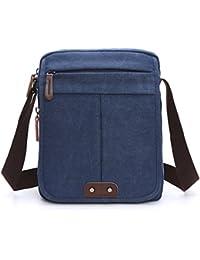 Outreo Vintage Borsa Tracolla Uomo Borsello Borse a Spalla Tela Sacchetto Sport Messenger Bag per Viaggio Tablet Studenti Tasche