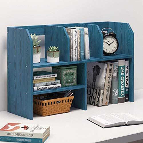 PLNXDM Desktop bücherregal,Storage Display Organizer Bücherregal Multifunktions-Holztisch Regal (4 Farbe) A-63 * 48 * 17cm -