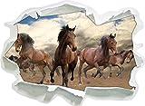Stil.Zeit Western Pferde Cowboy, Papier 3D-Wandsticker Format: 92x67 cm Wanddekoration 3D-Wandaufkleber Wandtattoo