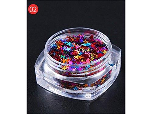 Paillettes multi-formes confettis paillettes colorées pour bricolage paillettes étoiles paillettes artisanat Nail Art et décoration (coloré) - BY DDOQ