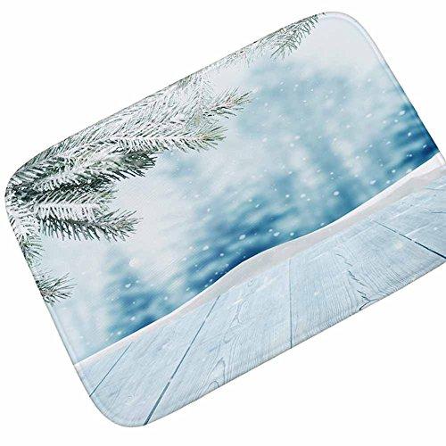 JUNDY rutschfeste Badematte Badteppiche Absorbent Badvorleger für Badezimmer Duschvorleger Küchenbodenmatten Holzfußmatten saugfähige rutschfeste Badezimmertürmatten colour26 50 * 80cm