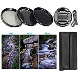 BPS Filtre ND Densité Neutre 58mm ND2 ND4 ND8 + Bouchon d'Objectif Avant Snap-On +Sac de Filtre pour Canon Nikon Sony Pentax Olympus et les Autres Reflex Numérique avec 58 mm Filetage de lentille