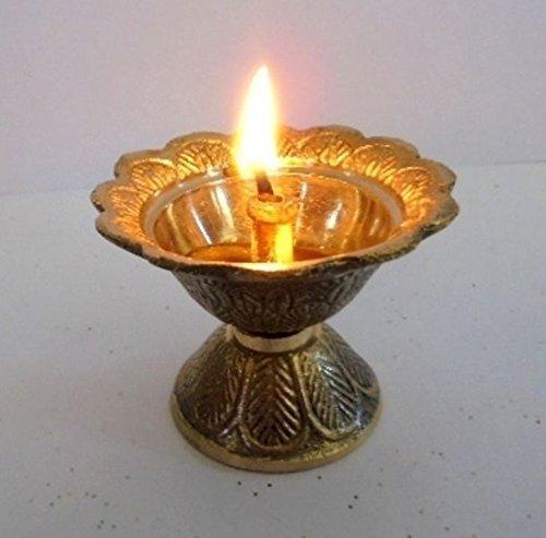 artcollectibles India latón diya Deepak Akhand Jyot Kuber hindú Templo HAVAN puja Religiosa lámpara de aceite